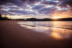 Sunrise at Ocean Beach (Merrillie) Tags: daybreak uminabeach sand landscape nature dawn mountains nswcentralcoast newsouthwales sea nsw beach water centralcoastnsw umina sky outdoors sunrise oceanbeach seascape clouds centralcoast australia waterscape