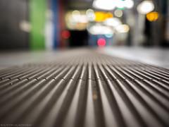 You kidding me? (katrin glaesmann) Tags: ubahnhof metro tube station workshop frankfurt festhallemesse u4 colours tiles fliesen low shallowdof bokeh