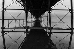 Underneath the Pier (tabulator_1) Tags: southportpier blackandwhite piers girders