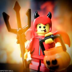 Hellfire (peterphotographic) Tags: img6854sqcb2burstedwm canong12 camerabag2 square peterhall walthamstow e17 eastlondon london england uk britain lego minifig macromondays macro closeup spookyandfrightful spooky frightful halloween scary red devil fire hell horns trident pumpkin hellfire