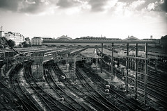 Gare de l'Est, paris, France (romain.pl) Tags: gare de lest paris train bw nb rails station transport garedelest
