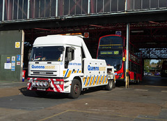 QUEENS ASSIST 5 - S341SKK - BX BEXLEYHEATH BUS GARAGE - WED 14TH SEPT 2016 (Bexleybus) Tags: go ahead goahead london bx bexleyheath bus garage depot kent volvo cedars queens assist 5 s341skk tow recovery truck wagon iveco wrightbus gemini eclipse