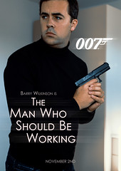 Photvember - 2ndB - The Man Who S (Barry Wilkinson) Tags: photvember james bond 007 poster comedy challenge selfie portrait movie action daft