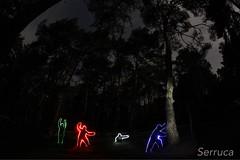 Fotografa nocturna en el pueblo (serruca78) Tags: noche largaexposicion linternas luces talveila lightpainting dibujosanimados