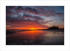 Red October (andyrousephotography) Tags: bamburgh castle northumberland beach sand sea reflections sun sunrise early morning clouds colours blues pinks oranges reds redoctober andyrouse eos 5d mkiii