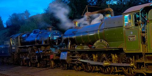7802 & 43106 on shed at Bridgnorth