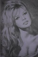 Brigitte Bardot portrait (Claudia De Facci) Tags: ritratto portrait art arte carboncino charcoaldrawing brigittebardot disegno actress frenchactress attrice attricefrancese artist artista