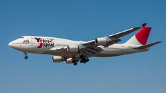JAL JA8919 pmbcb-5316 (andreas_muhl) Tags: 747 ja8919 jal japanairlines lhr n919un transaeroairlines b747446 hatton cross london heathrow planespotting airplane aircraft yokosojapan sonderlackierung