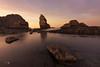Sunset in La Arnia (Caramad) Tags: agua longexposure mar landscape sunset light luz marcantábrico playa sea rocas rocks
