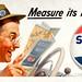 Measure its Mileage! Sohio billboard advertisement by J. Walter Wilkinson