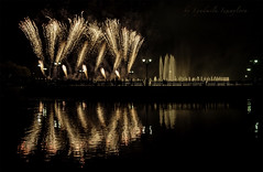 Fireworks in Tsaritsyno (Lyutik966) Tags: fireworks tsaritsyno funnylights light reflection festival holiday pond fountain moscow water park