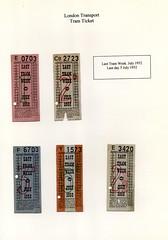 Tram Tickets (John A King) Tags: tram tickets