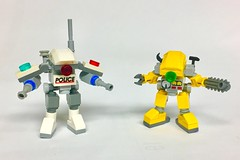 Cop Bot and Mechanic Mech (Buster) Tags: lego moc space starfighter spaceship starship star fighter swoosher spaceadventureplayset