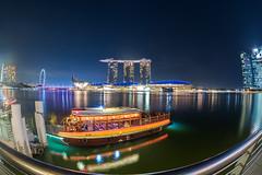 Ferry ride at Marina Bay... (itsrbtime) Tags: travel singapore marinabay marinabaysands marinabayarea color colorful reflections reflection olympus olympusomd omd em5 em5ii olympusem5 olympusem5markii olympusem5ii samyang samyang75mm samyang75mmf35 samyang75mmfisheye fisheye rijubhattacharya