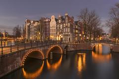 Winter lights in Amsterdam - Netherlands (luke.switzerland) Tags: amsterdam netherlands winter canals lights sunset water bridges nikon d810 europe