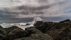 Spray (Karol T...) Tags: brakingwave rocks waves backlight seascape droplets water textures