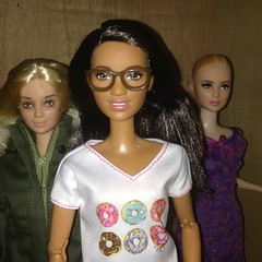 Introducing... ME! (Still Museum) Tags: barbie doll madetomove soccer football aa african black fashionista donuts glasses