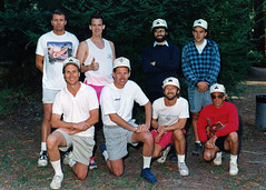 SBCC Men's Retreat 1992 (Tom Vivian) Tags: stealth9 scottreno davidmetcalfe garylawman robcoffron markhawkins stevecox mikepavlic johnwarren themountaincamp pescaderoca