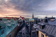 Stockholm Old Town (J. Pelz) Tags: cityview roof rooftop stockholm oldtown beautiful sunrise