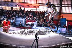 Mariana Pajon (iron_rider) Tags: mariana pajon bmx world champion bicross race saintetienne saint etienne indoor ride speed jump red bull d3 helmet redbull gw bike light competition