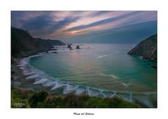Playa del Silencio (Canconio59) Tags: otraspalabrasclave playadelsilencio sunset costa asturias espaa spain cudillero playa beach nubes clouds