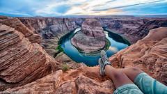 Horseshoe Bend (zoltanfarkas.com) Tags: hyperwide outdoor adventure landscape selfie milc a7rm2 a7rii voigtlnderemount heliar 10mm wideangle sony southwest summer sunset rafting canyon river colorado loop horseshoebend arizoma usa