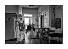 St. Nicholas day (Jan Dobrovsky) Tags: northernbohemia leicaq bw document contrast grain stnicholas people indoor