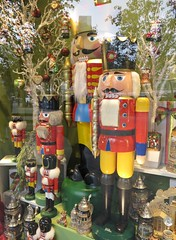 window display of wooden toy soldiers (squeezemonkey) Tags: berlin window shop toys display german woodensoldier kthewohlfahrt