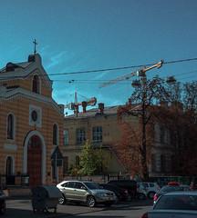 kyiv. (grocap) Tags: road street blue autumn trees sky cars ukraine kyiv