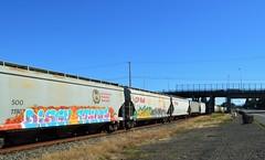 Disgusting (rickele) Tags: oregon train portland graffiti mthood disgusting mounthood freight uprr usroute30