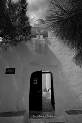 church on the mountain (Steve Androu) Tags: blackandwhite bw churches hellas greekislands sifnos