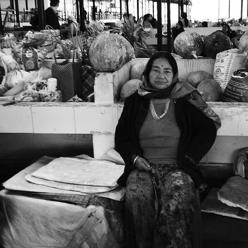 Stall owner at the weekend market.  #bhutan #thimphu #wanderlust #travel