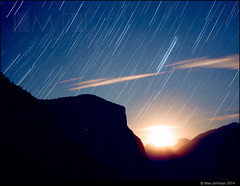Yosemite Star Trails (Max Johnson) Tags: park sky mountains silhouette night dark star long exposure time trail national valley yosemite multiple lapse
