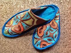 Free silk slippers pattern (Antpodas) Tags: pattern sewing silk free stitching slippers tutorial crafting