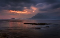 Last Light, Elgol, Isle of Skye (ajnabeee) Tags: sunset sky mountains skye clouds scotland isleofskye dusk ridge range cuillins isle elgol