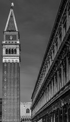 Piazza San Marco, Venice, Italy (Peraion) Tags: venice blackandwhite italy building tower architecture europe style piazza sanmarco