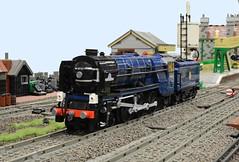 "Lego LNER Peppercorn A1 ""Tornado"" (GWBS 2014) front (michaelgale) Tags: castle lego pacific steam locomotive a1 corfe tornado peppercorn moc 2014 lner bricktrix"