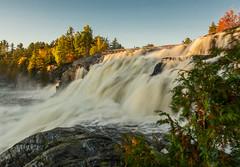 High Falls-3268ed (RG Rutkay) Tags: autumn sunset ontario fall nature landscape outdoors scenic waterfalls bracebridge algonquin highfalls marylake moskoka tdpcoutting
