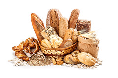 Bread and rolls (tigercop2k3) Tags: food brown white breakfast composition studio crust french bread gold healthy warm different baker basket dough background wheat traditional group grain cereal seed tasty fresh gourmet canvas whole baguette bakery romania meal pastry rolls organic variety loaf fiber flour yeast wicker bake pretzel assortment bun freshness burlap