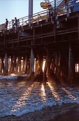 (le.gonzo) Tags: california sunset film beach 35mm pier losangeles pentax kodak santamonica santamonicapier