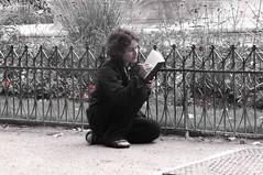 Drawing (hrd260) Tags: park paris france girl monochrome drawing notredame panasonic tz40 panasonictz40