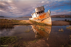Point Reyes (Patrick Berden) Tags: california usa reflection boat inverness pointreyes2014