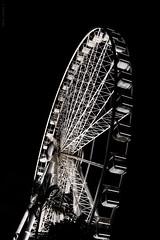 The Wheel of Brisbane (dlerps) Tags: city urban bw monochrome wheel night lights sony sigma australia brisbane queensland bigwheel lerps sonyalphadslr wheelofbrisbane sonyalphaa77v daniellerps