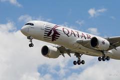 A350 Airbus 'Qatar launch customer' livery F-WZNW msn 004 (Mav'31) Tags: airplane airport aircraft airbus toulouse blagnac spotting tls aéroport lfbo d5100