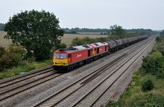 60063 60024 ccc Cossington 030914 D Wetherall (MrDeltic15) Tags: dbs midlandmainline class60 cossington 60024 60063 6e38