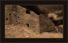 Chaco Canyon 1 (the Gallopping Geezer 3.8 million + views....) Tags: house newmexico brick abandoned home stone sepia canon construction ancient village decay indian pueblo culture canyon nativeamerican faded worn ghosttown weathered chacocanyon toned decayed geezer americanindian 2007 corel dwelling west07927