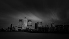 Canary Scape (hammermad) Tags: city sky london thames clouds wharf canary