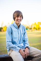 Bradley (sweeneybrandon) Tags: wood blue boy portrait brown guy green senior field grass yellow shirt fence hair bokeh naturallight portraiture seniorportrait