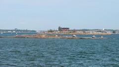 A view from Kaivopuisto out to the sea (Helsinki, 20140803) (RainoL) Tags: sea panorama finland geotagged island helsinki august balticsea u helsingfors seashore stitched kaivopuisto 2014 uusimaa nyland 201408 20140803 geo:lat=6015569392 geo:lon=2496271849