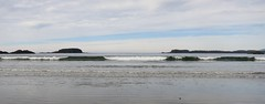 Wavelets and islets (Ruth and Dave) Tags: ocean sea sky weather clouds islands seaside sand rocks waves bc pacific longbeach tofino westcoast islet islets wavelet weatherphotography